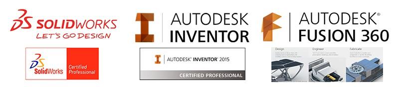 Solidworks Autodesk Inventor design banner